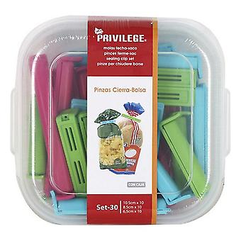 Bag Cleme de închidere Privilege Multicolor (30 Uds)