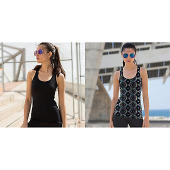 Skinni Fit Womens/dames omkeerbare training mouwloos Vest