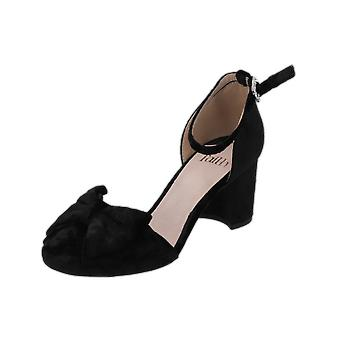 Faith CARIN Women's Pumps Black High Heels Stilettos Heel Shoes