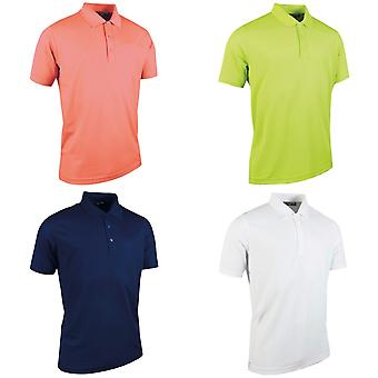 Glenmuir Mens Plain Performance Pique Short Sleeve Golf Polo Shirt