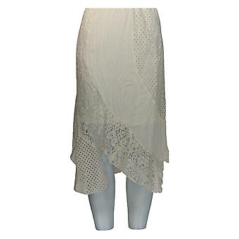 Back in the Saddle Skirt Embellished Pull On Layered Ivory