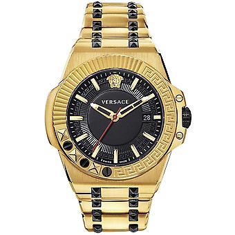 Versace VEDY00619 Relógio masculino de reação em cadeia 45 mm