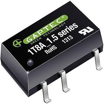 Gaptec 1T8A_1205S1.5UP DC/DC converter (SMD) 12 V DC 5 V DC 200 mA 1 W Nr. van de uitgangen: 1 x