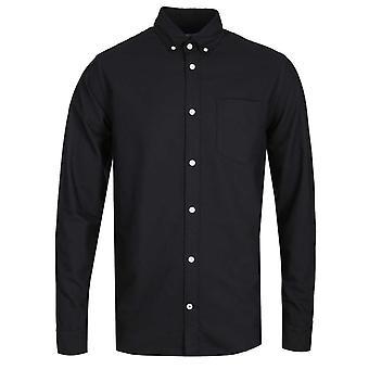 NN07 Levon 5142 Button Down Black Long Sleeve Shirt