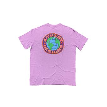 Stussy Earth Ss Tee Lavender - Vêtements