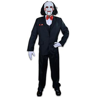Saw Billy Puppet Adult Costume & Mask Combo