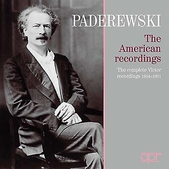ブラームス/シュトラウス/パデレフスキ - イグナツィ ・ ヤン ・ パデレフスキ: アメリカの録音 [CD] USA 輸入
