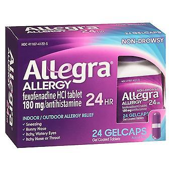 Allegra allergy, 24 hour indoor/outdoor relief, gelcaps, 24 ea *