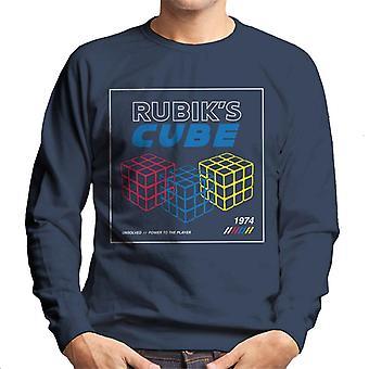 Rubik ' s macht naar de speler retro mannen ' s Sweatshirt