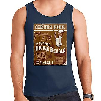 Peanuts Circus Pier Diving Snoopy Men's Vest