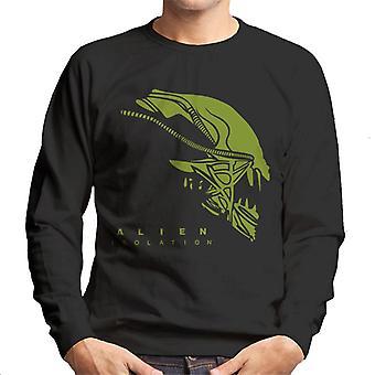 Alien eristäminen Xenomorph Head Miesten ' s College pusero
