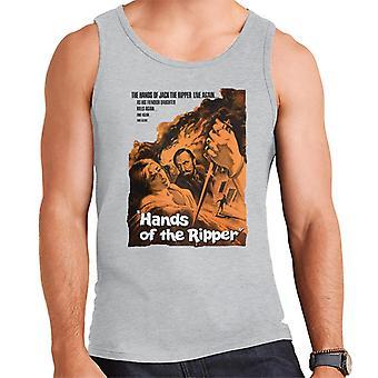 Hammer Horror films handen van de Ripper Movie Poster mannen ' s vest