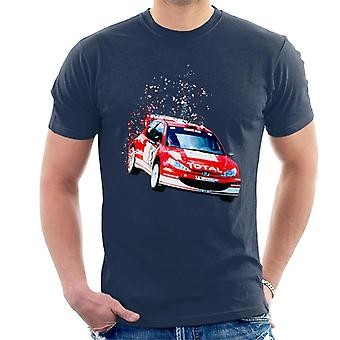 Motorsport Bilder Peugeot 206 WRC Fade Men's T-Shirt