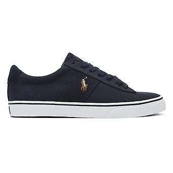 Ralph Lauren Sayer Hombres Navy Canvas Trainers