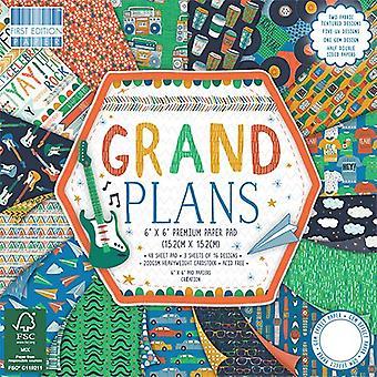 Première édition 6x6 Inch Paper Pad Grands Plans