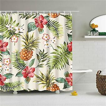 Floral Printed Shower Curtains For Bathroom
