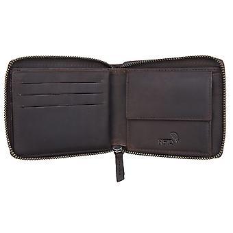 Primehide Mens Portefeuille en cuir RFID Blocage Secure Zip Round Style Gents 4257