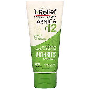 MediNatura, T-Relief, Arnica +12, Arthritis Pain Relief Cream, 2 oz (57 g)