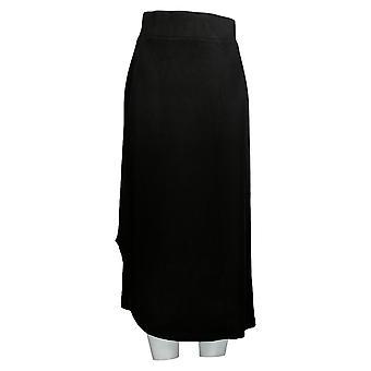 LOGO Layers de Lori Goldstein Jupe Tricot avec ourlet incurvé noir A276760