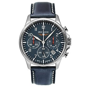 Iron Annie 5872-3 Captain's Line Blue Dial With Chronograph Wristwatch