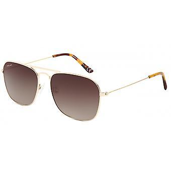 Sunglasses Unisex Aviator Polarized Gold (P88302/R)
