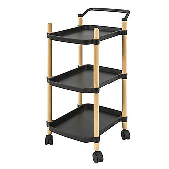 SoBuy SVW06-SCH,3 Tier Serving Trolley for Kitchen and Living Room
