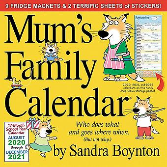 Otter House 2021 Wall Calendar - Mums Family Calendar