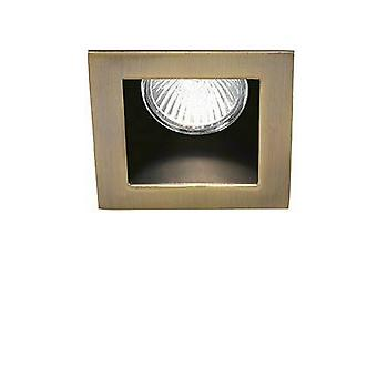 1 Light Recessed Spotlight Bronze, GU10