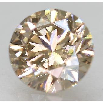 Cert 1,15 vaaleanruskea VVS2 pyöreä loistava parannettu luonnollinen timantti 6,62 mm 3EX