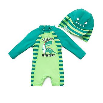 Bonverano Boys One Piece UPF 50+ Sun Protection Long Sleeves Zipper Sunsuit