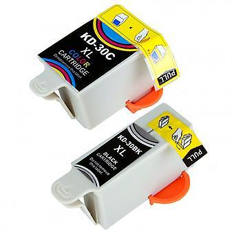 RudyTwos Ersatz für Kodak 30 b 30C Set Ink Cartridge Black & Tri-Color kompatibel mit ESP C100, C110, C115, C300, C310, C315, C330, C360, 1.2, 3.2, 3.2S, Büro 2100, 2150, 2170 AIO, Held 2.2, 3