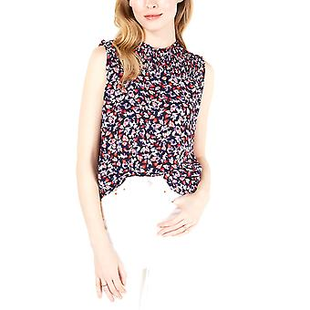 Maison Jules | Printed Sleeveless Smocked Top