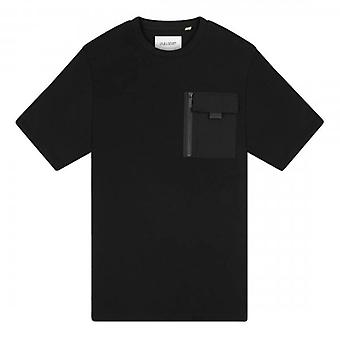 Lyle & Scott Chest Pocket Crew Neck T-Shirt Black TS1321V