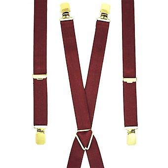 Cravatte Planet Plain Borgogna Rosso Skinny Pantaloni Bracciale