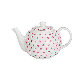 Nina Campbell Small Teapot, Pink Hearts Design