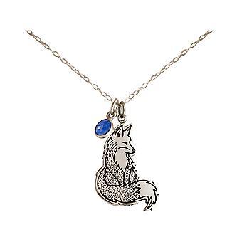 GEMSHINE Listig Fox eller Fox Wildlife Hänge 925 Silver eller förgyllda