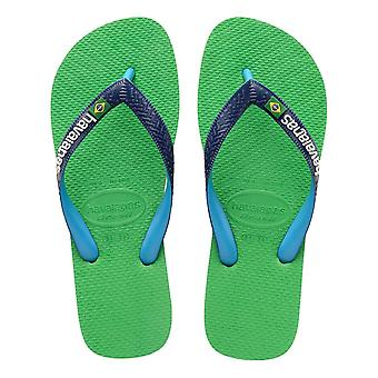 Havaianas Brasil Mix Flip Flops - Leaf Green