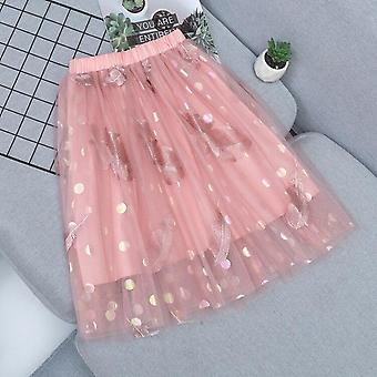 Baby Layered Skirts Kids Ball Gown Summer Autumn Solid Long Princess Child