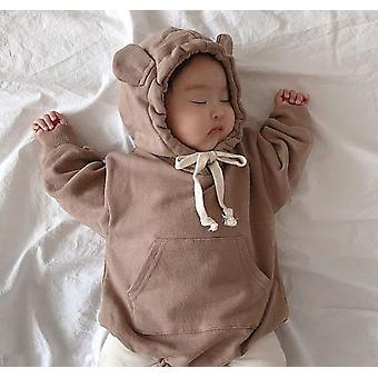 Little Bear Ears Hooded-romper And Pants For Babies