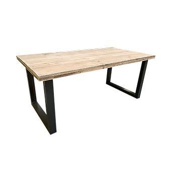 Wood4you - Esstisch Eiche Stahl bein 180Lx78Hx96D cm