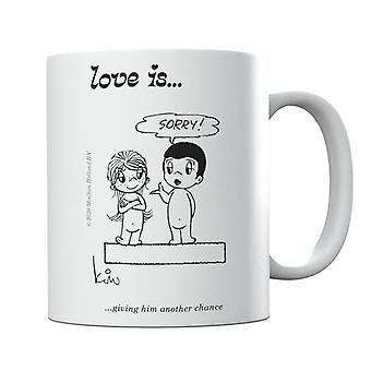 Love Is Giving Him Another Chance Mug