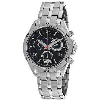 Mathey Tissot Hombres's Bolton Reloj de marcación negra - H5002CHAN