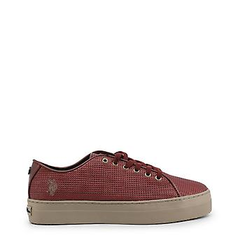 Us polo assn. 4139w8 women's synthetic leather sneakers