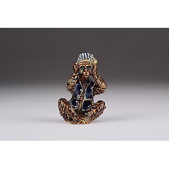Brown Monkey Kikazaru Hear No Evil - Trinket Box