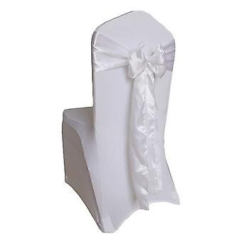 Satin Chair Cover Sashes Fuller Bow Ribbon Wedding Banquet Party Décor 10 Pcs