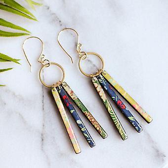 Handmade, Dramatic And Lightweight Glossy Earrings