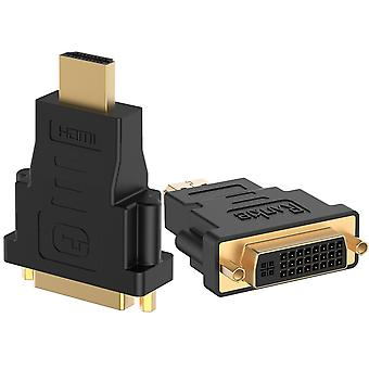 Rankie hdmi (male) to dvi (female) adapter, 2-pack, black