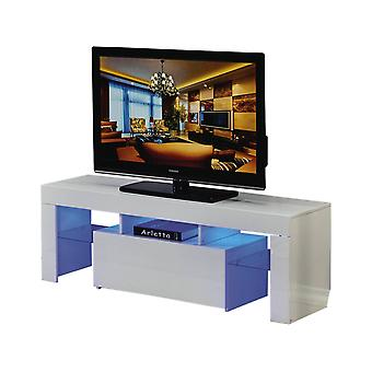 Mueble TV LED BORDA - 130 x 34 x 45 cm - Blanco