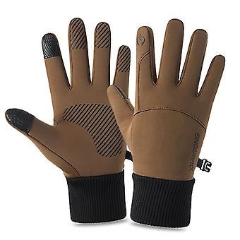 Outdoor Sports Gloves, Men Driving Motorcycle Snowboard Non-slip Ski
