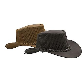Walker and Hawkes - Leather Cowhide Outback Cooler Hat